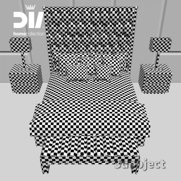 3d модель кровати DV home Envy_unwrap