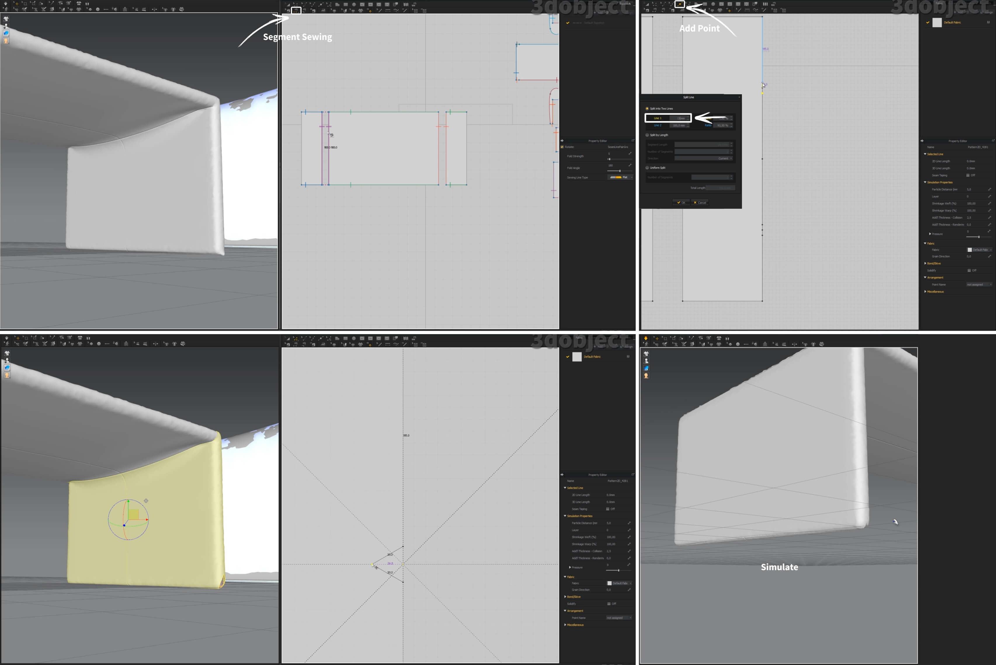 3d моделирование прикроватной скамьи dv home collection Envy