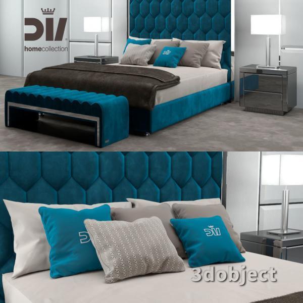 3d модель кровати DV home Envy