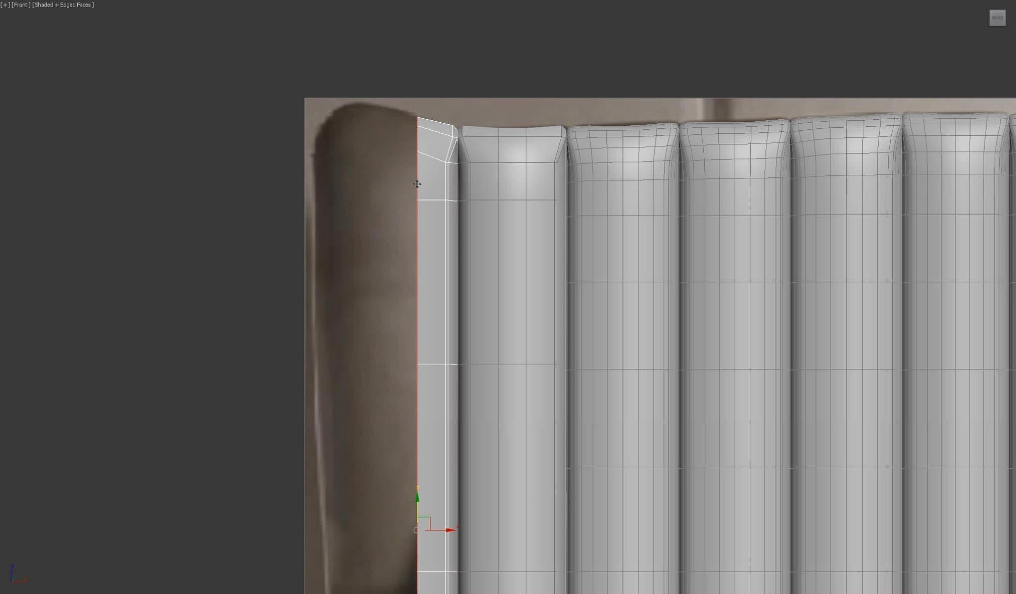 3d моделирование кожаного изголовья кровати DV home Hermes в 3dsMax_2