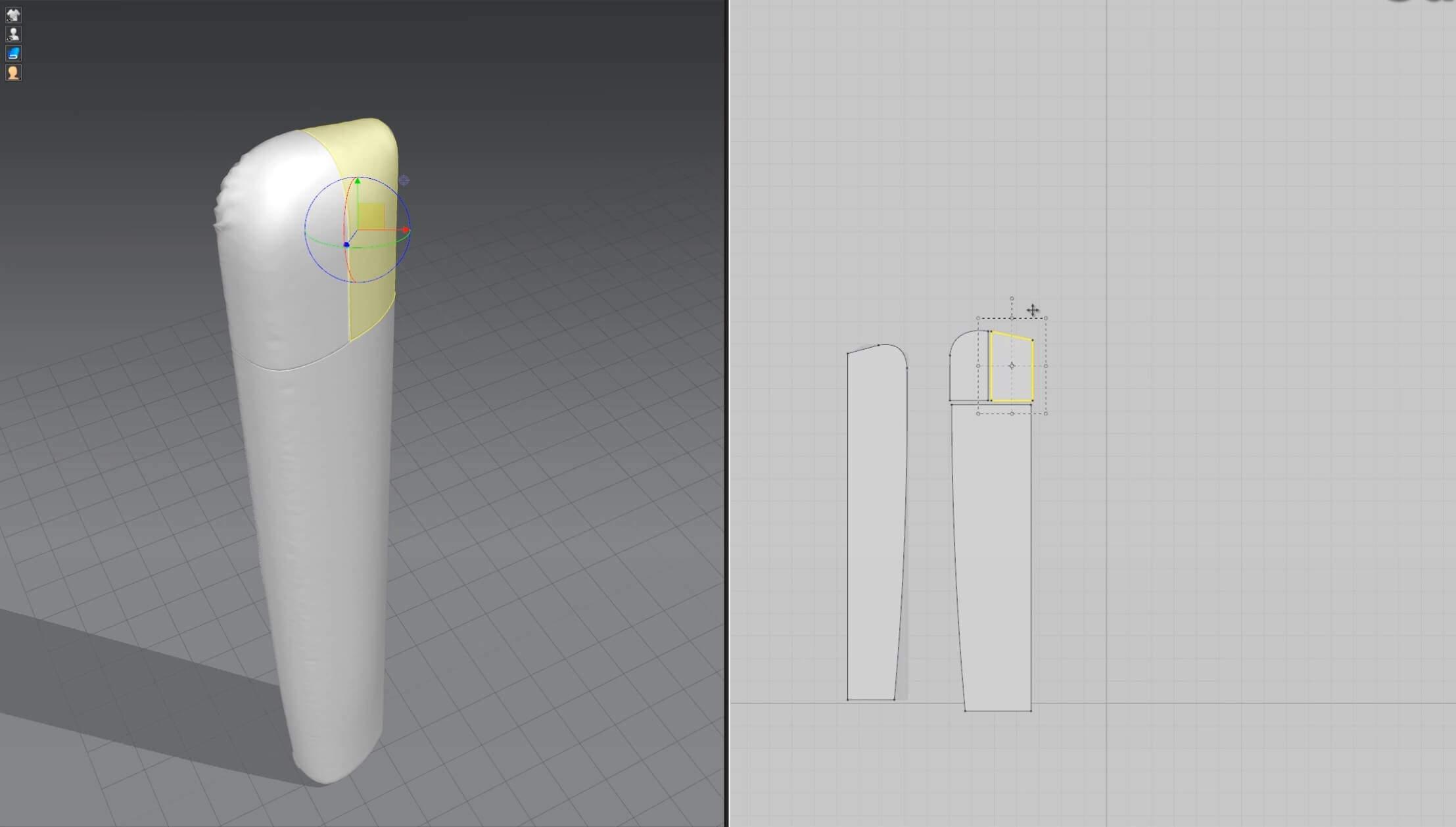 3d моделирование кожаного изголовья кровати DV home Hermes в 3dsMax_4