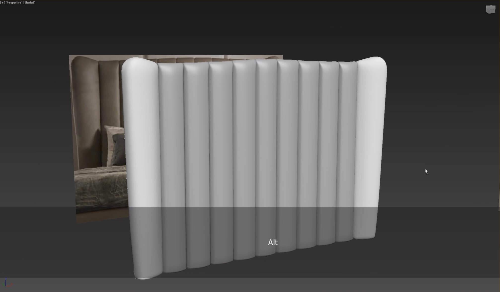 3d моделирование кожаного изголовья кровати DV home Hermes в 3dsMax_5