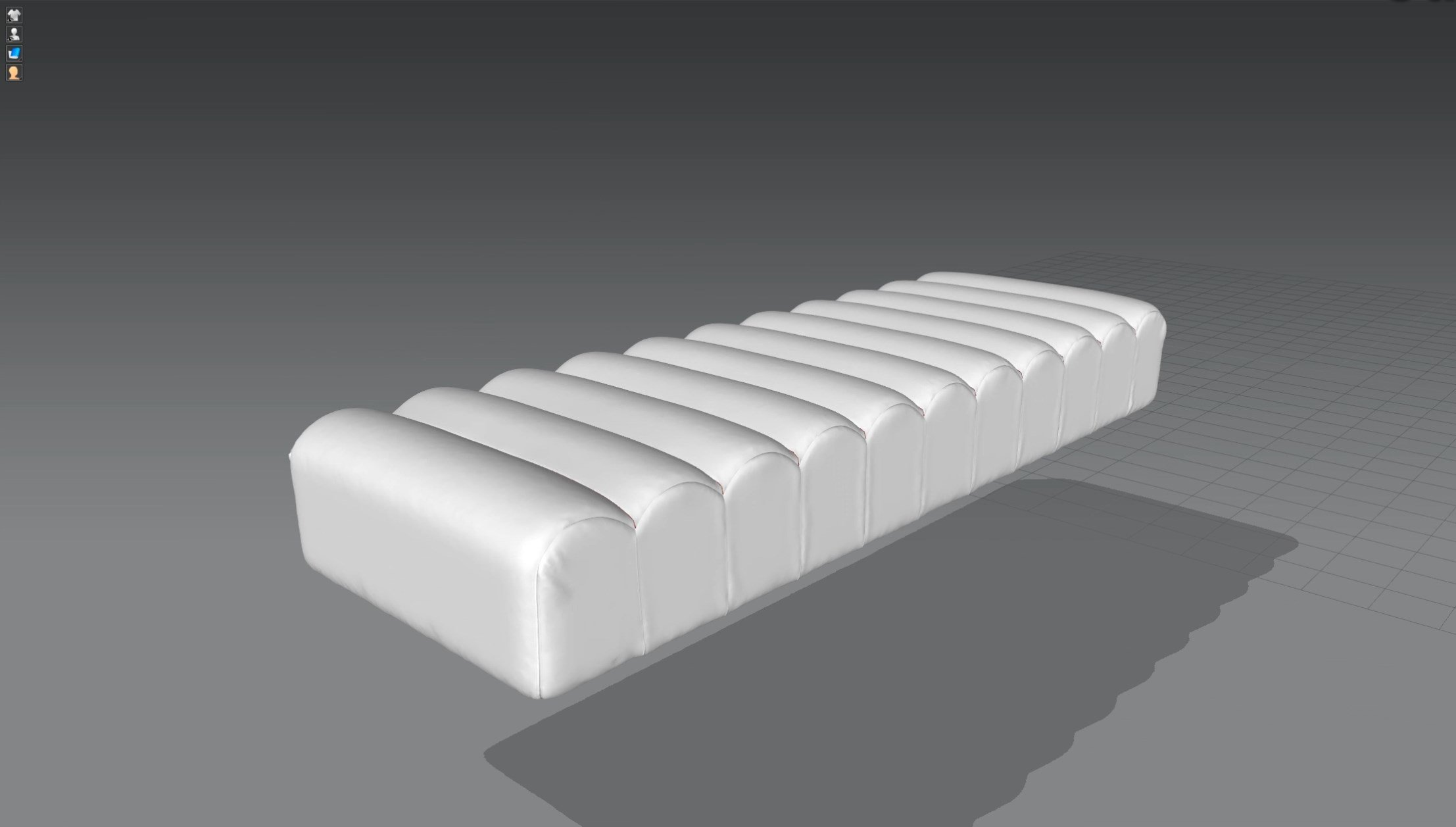 3d моделирование прикроватной скамьи DV home Ritz в 3dsMax и Marvelous Designer_2
