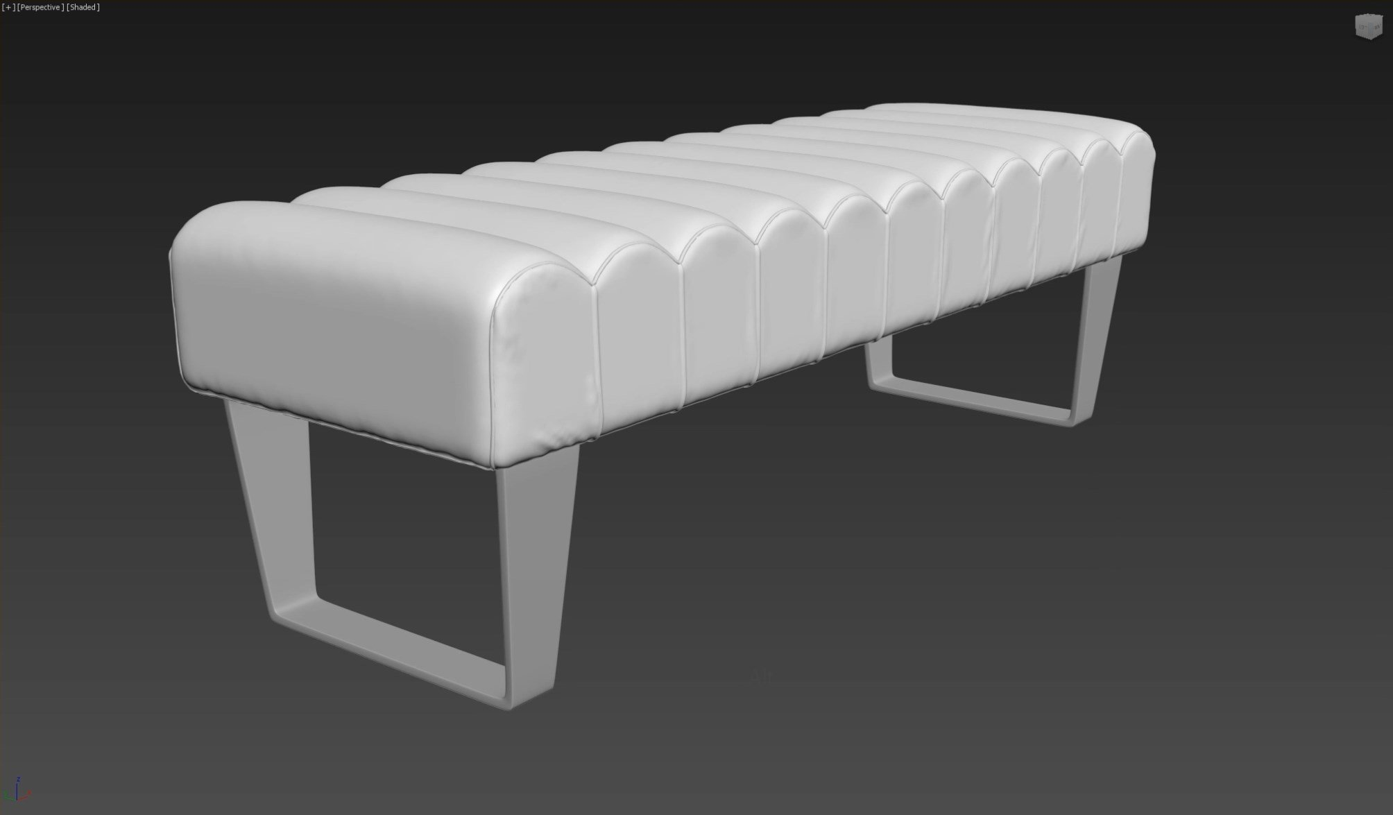 3d моделирование прикроватной скамьи DV home Ritz в 3dsMax и Marvelous Designer_4