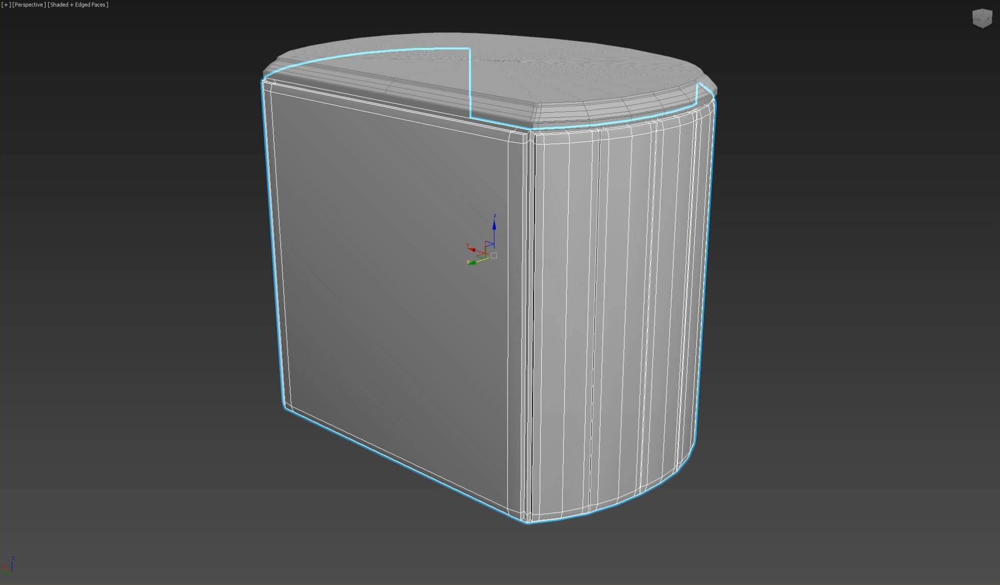 3d моделирование прикроватной тумбы DV home Vogue в 3dsMax_1