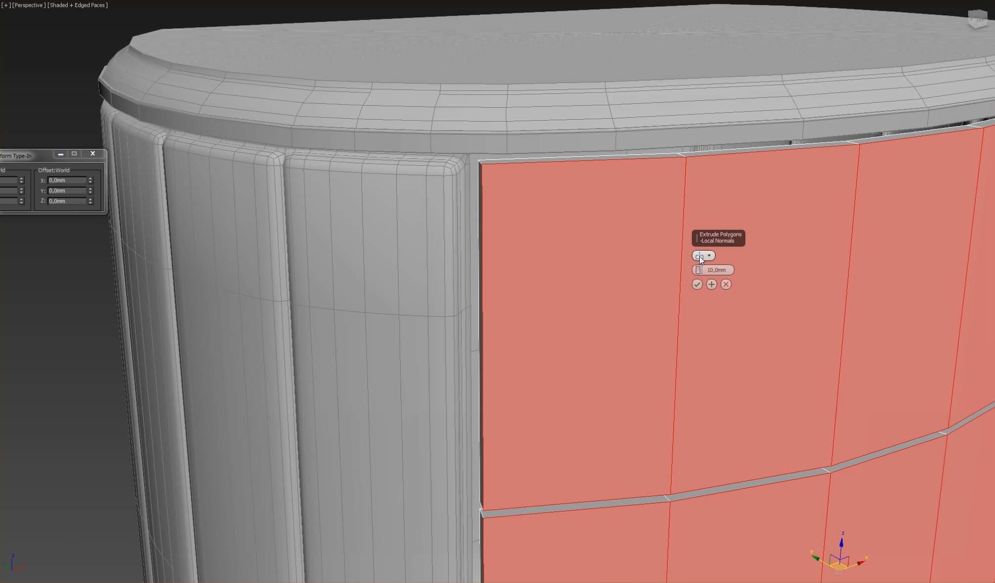 3d моделирование прикроватной тумбы DV home Vogue в 3dsMax_2