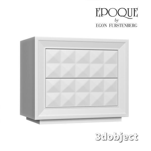 3d модель прикроватной тумбы Epoque Diamante Trittico