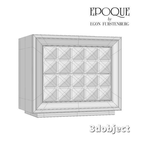 3d модель прикроватной тумбы Epoque Diamante Trittico_grid
