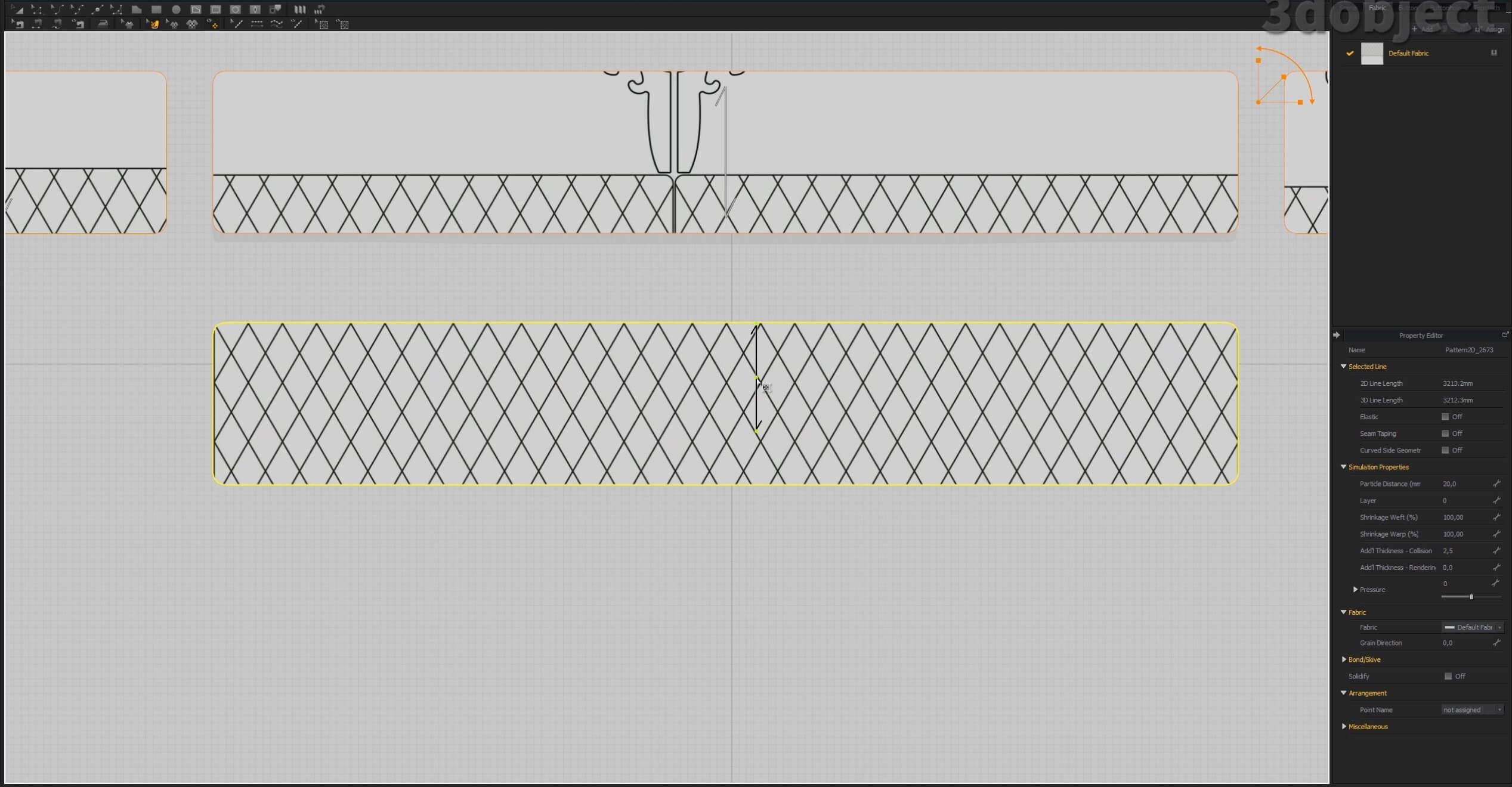 Как создать 3d модель прикроватной скамьи DV Home Quilt в 3dsMax, Marvelous Designer_3