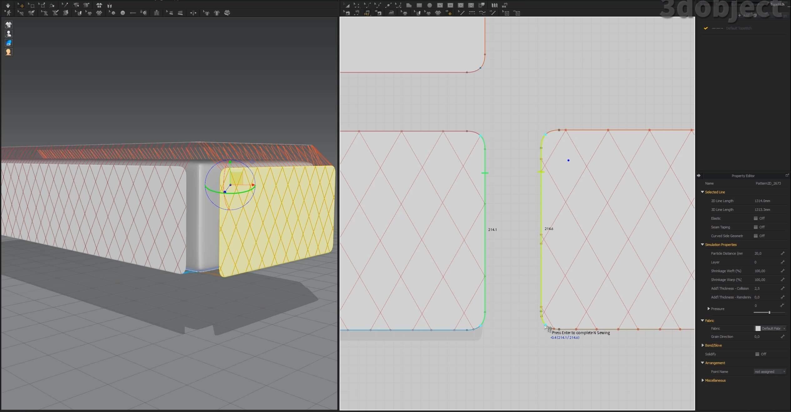 Как создать 3d модель прикроватной скамьи DV Home Quilt в 3dsMax, Marvelous Designer_4