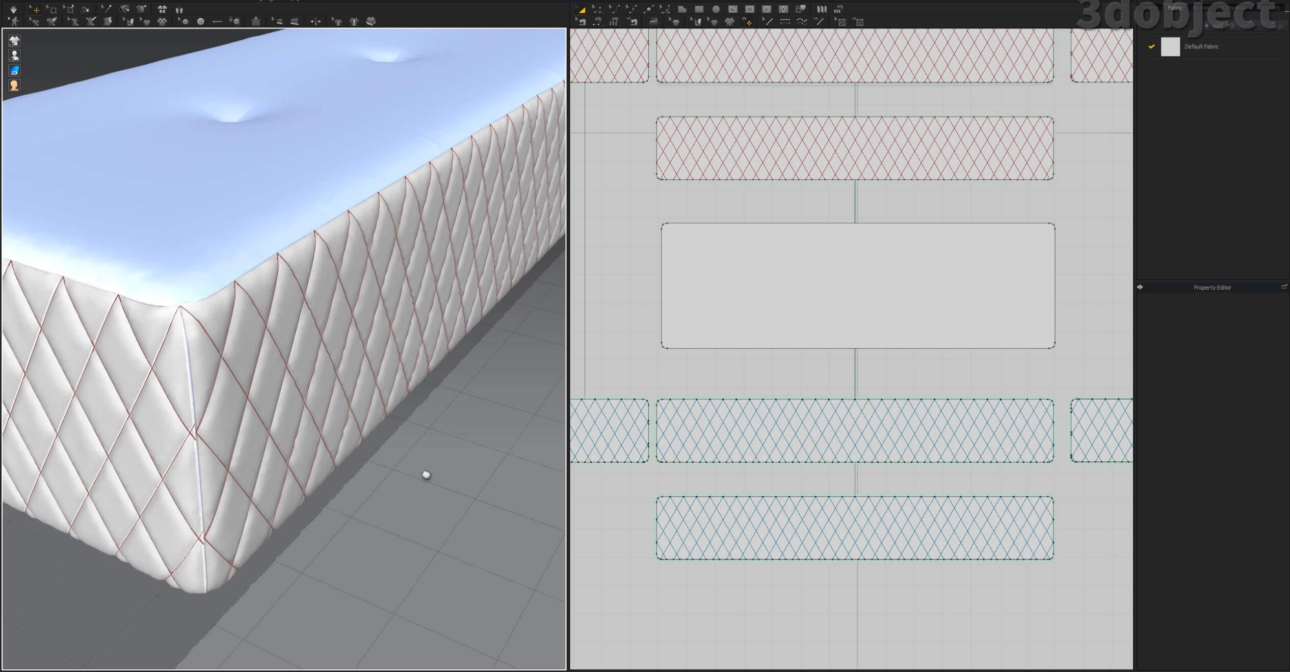 Как создать 3d модель прикроватной скамьи DV Home Quilt в 3dsMax, Marvelous Designer_5