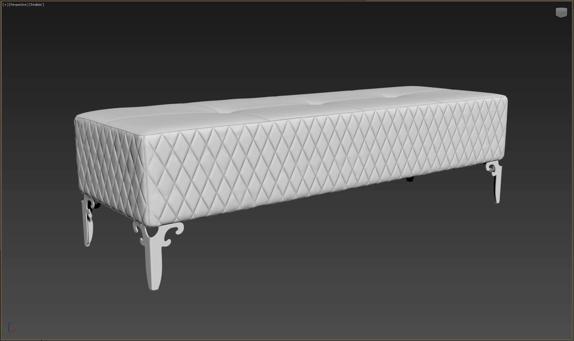 Как создать 3d модель прикроватной скамьи DV Home Quilt в 3dsMax, Marvelous Designer_9