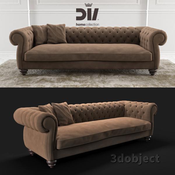 3d модель дивана DV home Kensington
