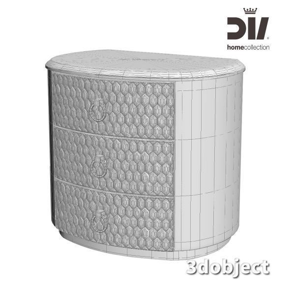 3d модель прикроватной тумбы DV home Charlotte_grid