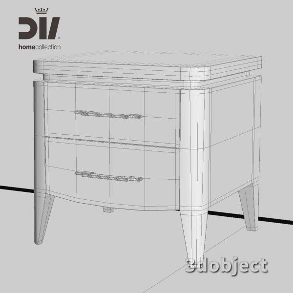 3d модель прикроватной тумбы DV home Egoist_grid