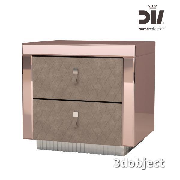 3d модель прикроватной тумбы DV home Envy