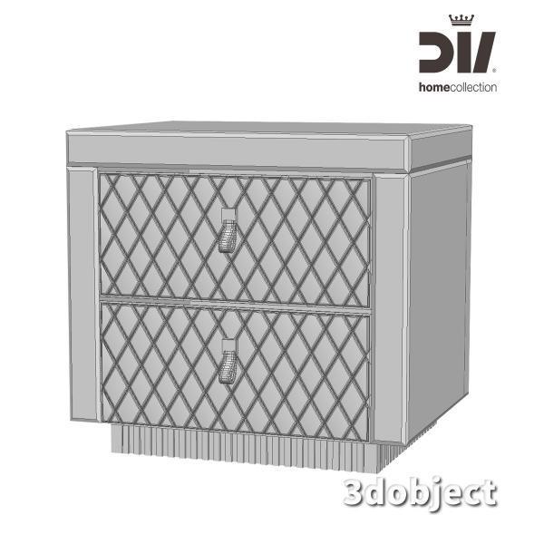 3d модель прикроватной тумбы DV home Envy_grid