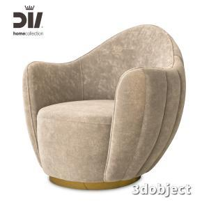 3d модель кресла DV home Hermes