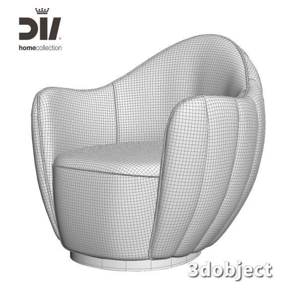 3d модель кресла DV home Hermes_grid