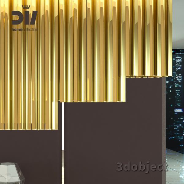 3d модель люстры DV home Hermes