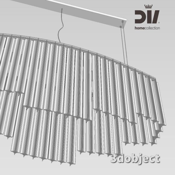 3d модель люстры DV home Hermes_grid