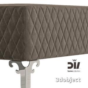 3d модель прикроватной скамьи DV home Quilt