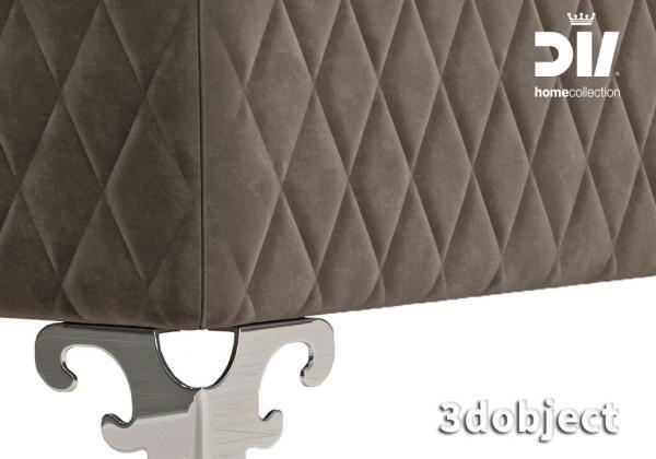 как создать 3d модель прикроватной скамьи DV home Quilt в 3dsMax, Marvelous Designer