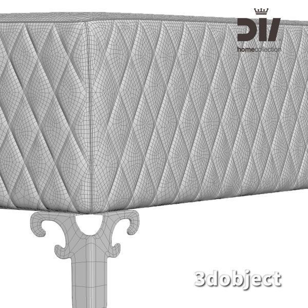 3d модель прикроватной скамьи DV home Quilt_grid