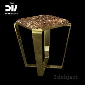 3d модель кофейного столика DV home Ritz