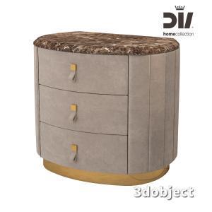 3d модель прикроватной тумбы DV home Vogue