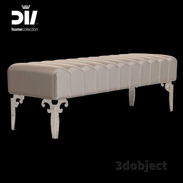 3d модель прикроватной скамьи DV home Post