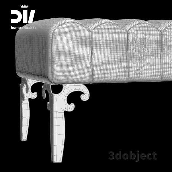 3d модель прикроватной скамьи DV home Post_grid