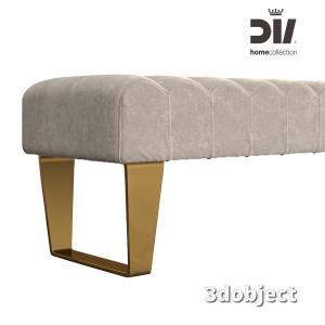 3d модель прикроватной скамьи DV home Ritz
