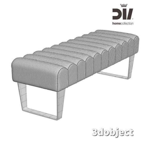 3d модель прикроватной скамьи DV home Ritz_grid