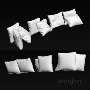 3d модель мягких подушек для дивана
