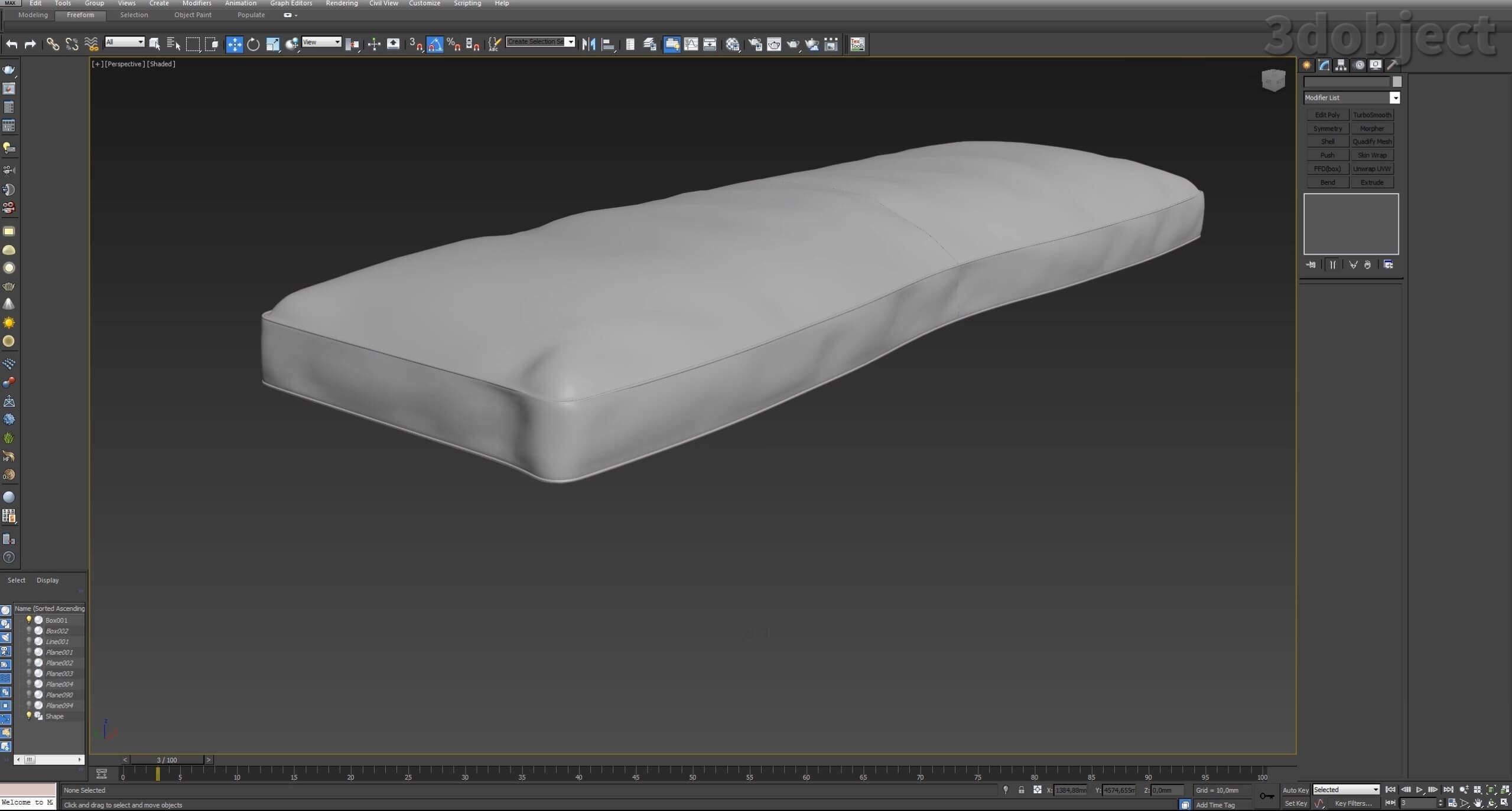 3d моделирование дивана DV Home Kensington в 3d max_24