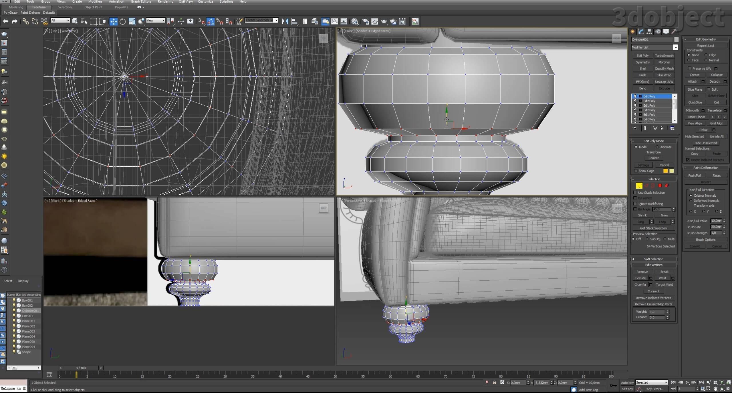 3d моделирование дивана DV Home Kensington в 3d max_26