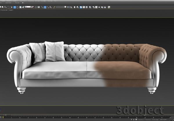 3d моделирование дивана в 3d max DV Home Kensington