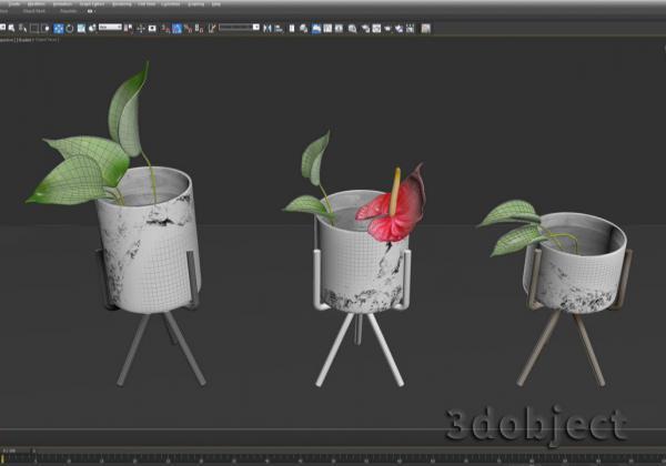 Моделирование цветов в 3d max
