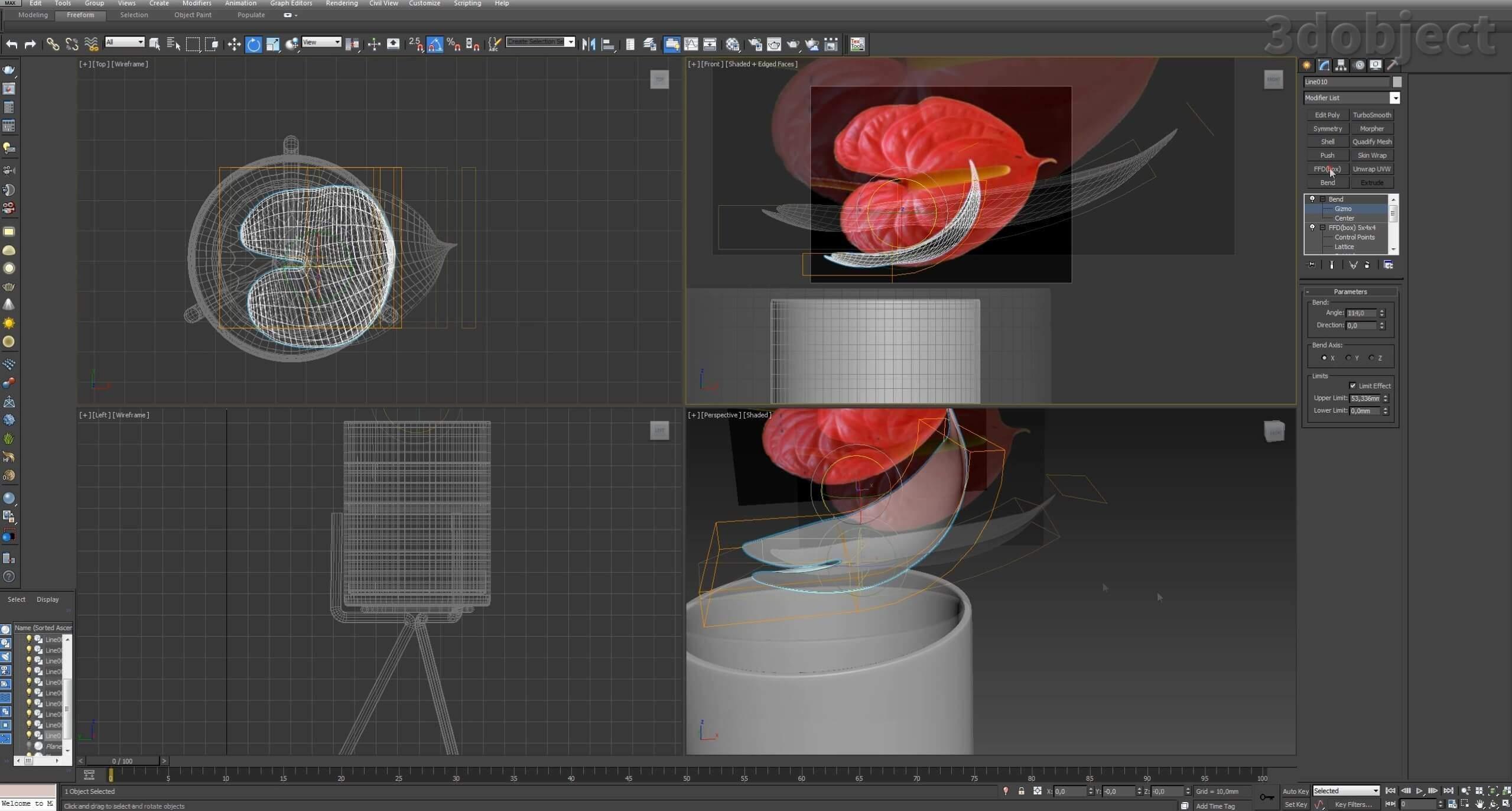 Моделирование цветов в 3d max_4