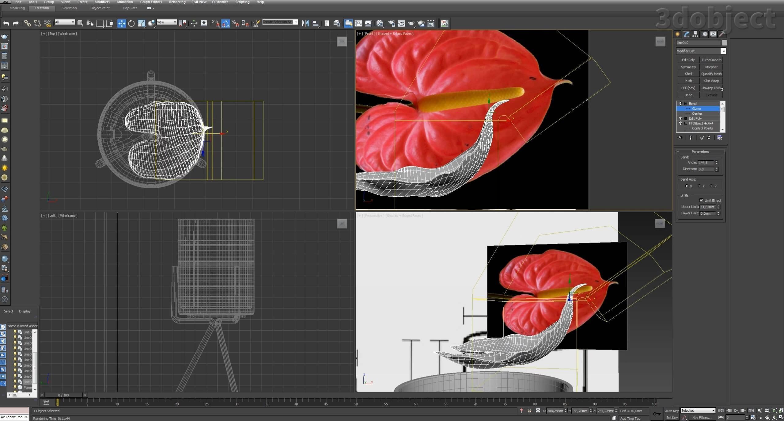 Моделирование цветов в 3d max_7