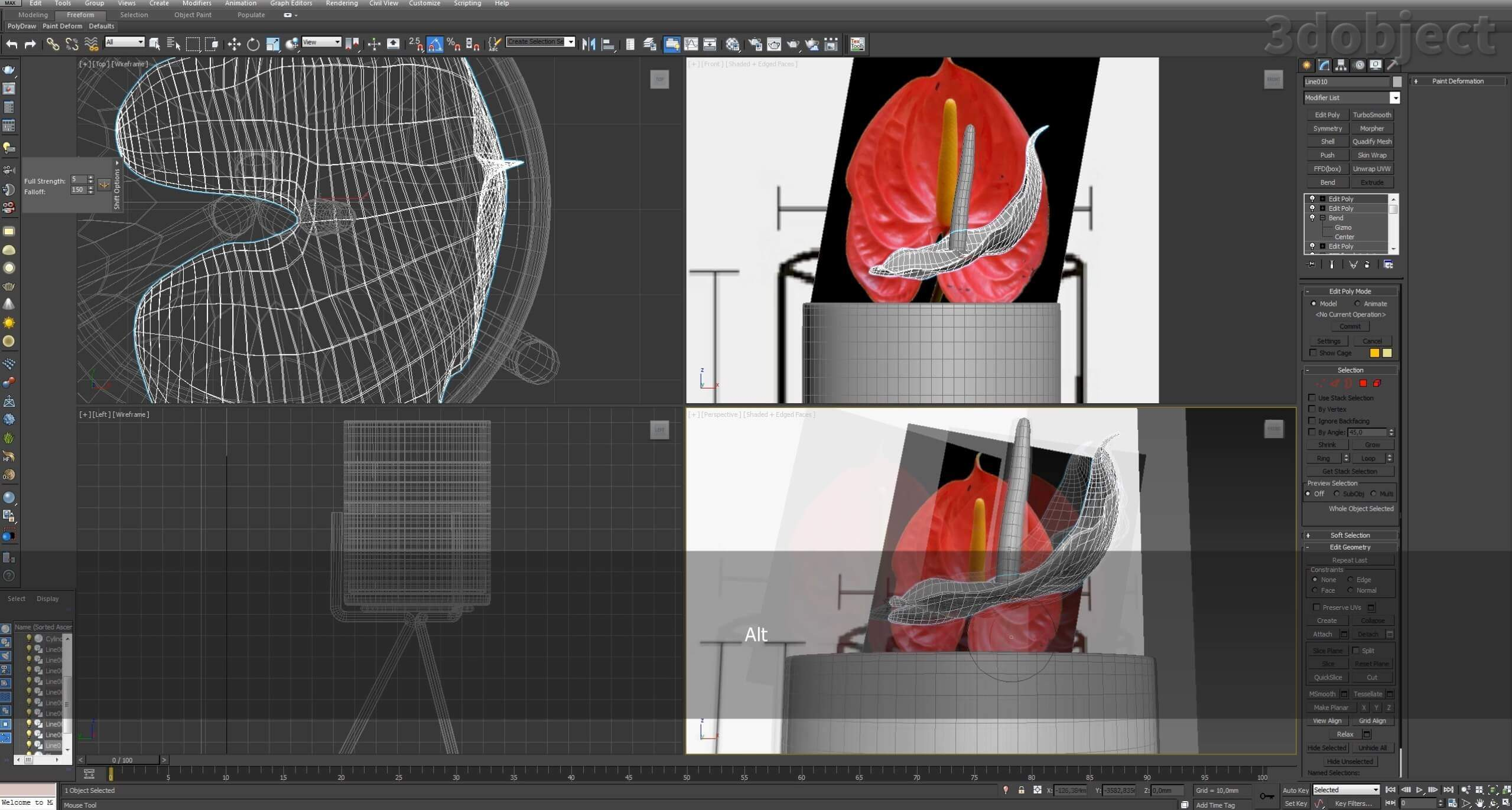 Моделирование цветов в 3d max_8