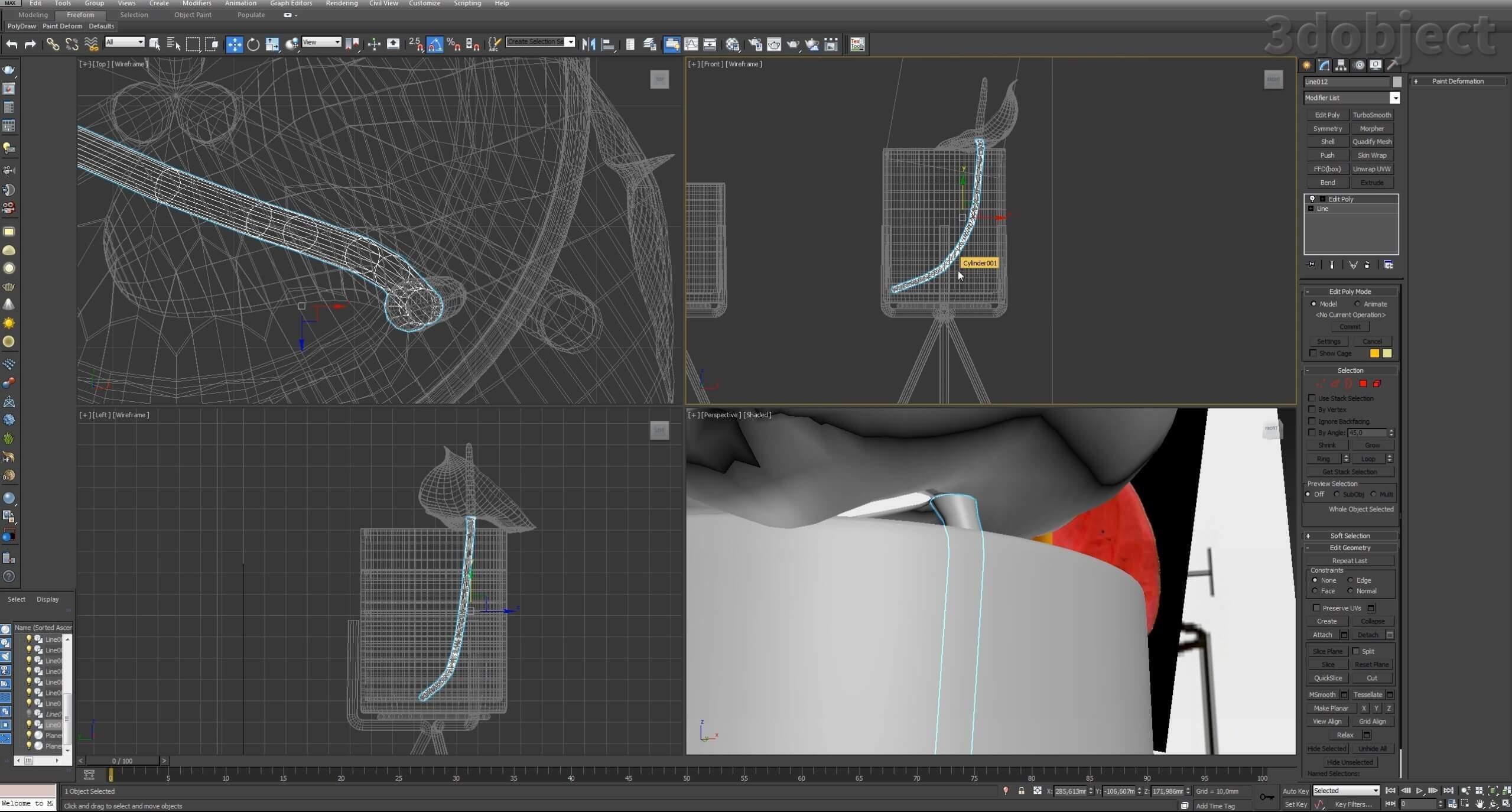 Моделирование цветов в 3d max_9
