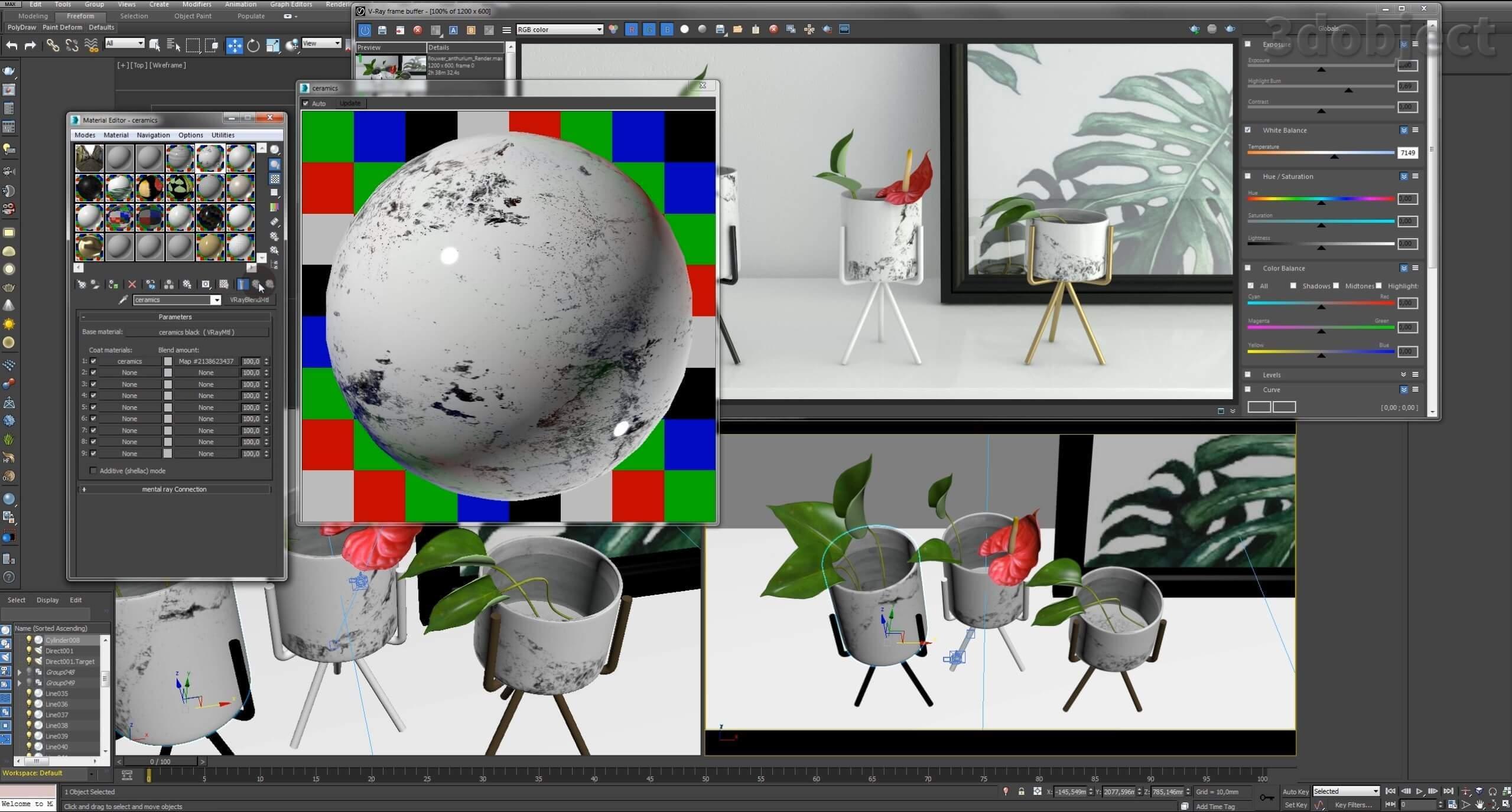 Текстурирование вазы с Aliexpress_1