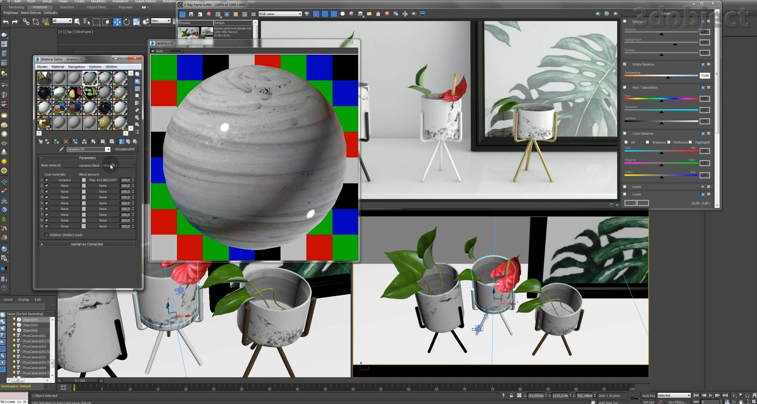 Текстурирование вазы с Aliexpress_2