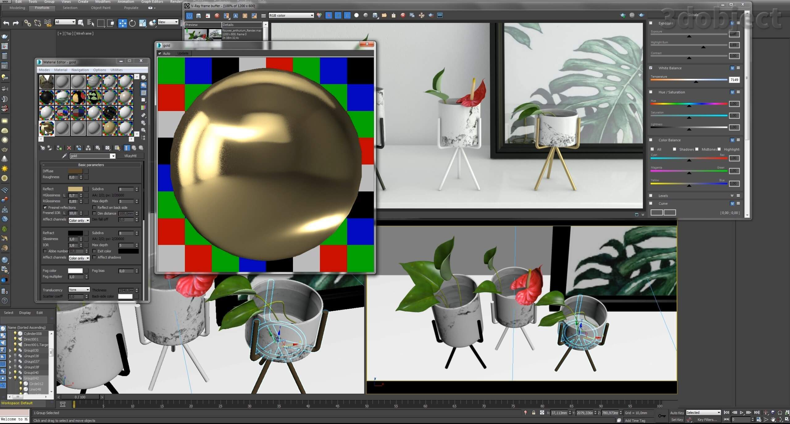 Текстурирование вазы с Aliexpress_3
