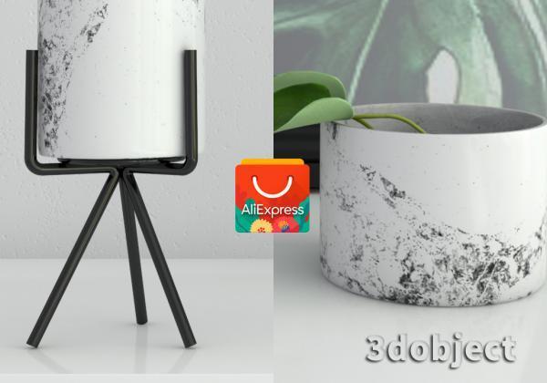 Текстурирование вазы с Aliexpress