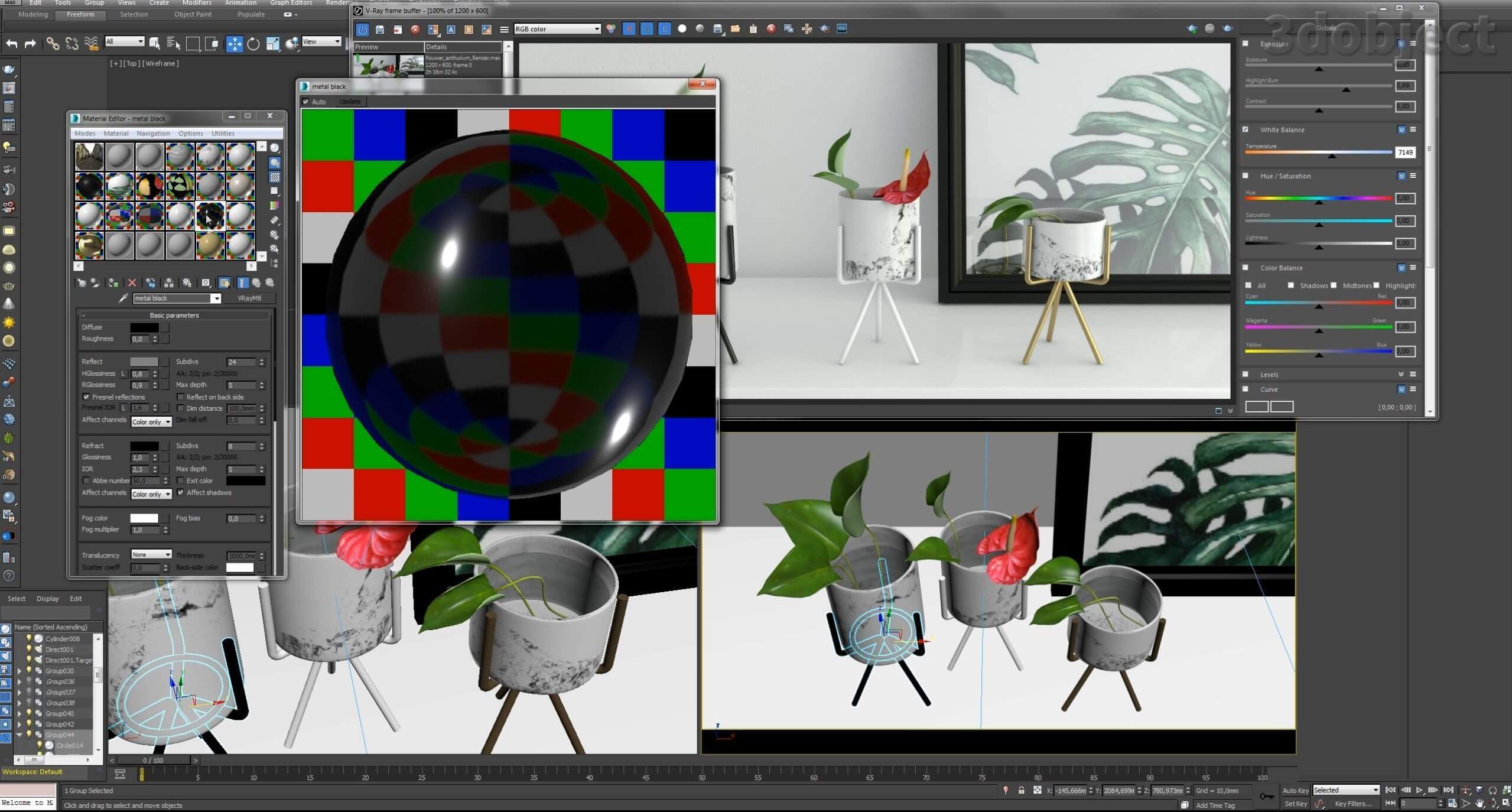 Текстурирование вазы с Aliexpress_5
