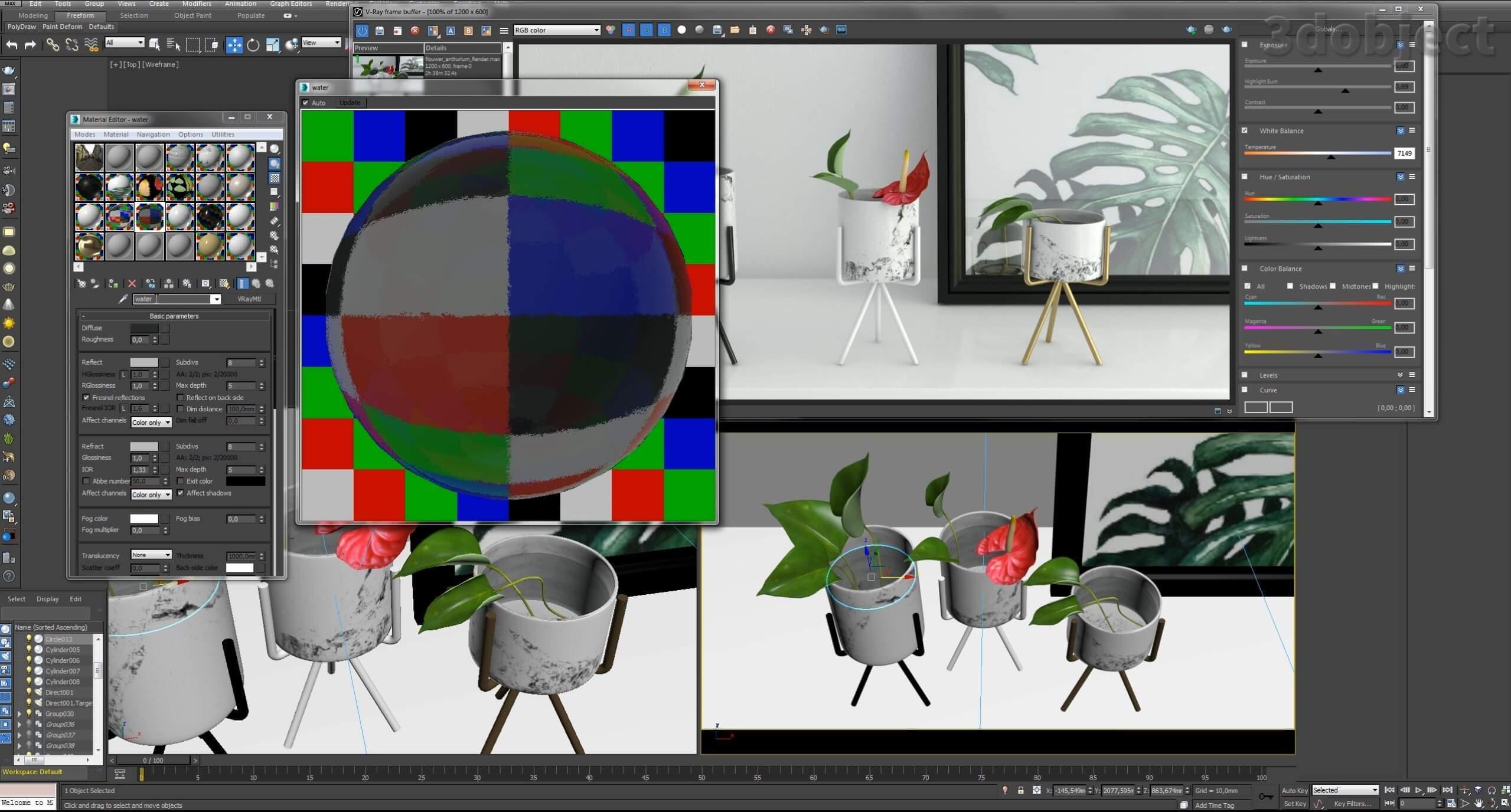 Текстурирование вазы с Aliexpress_6