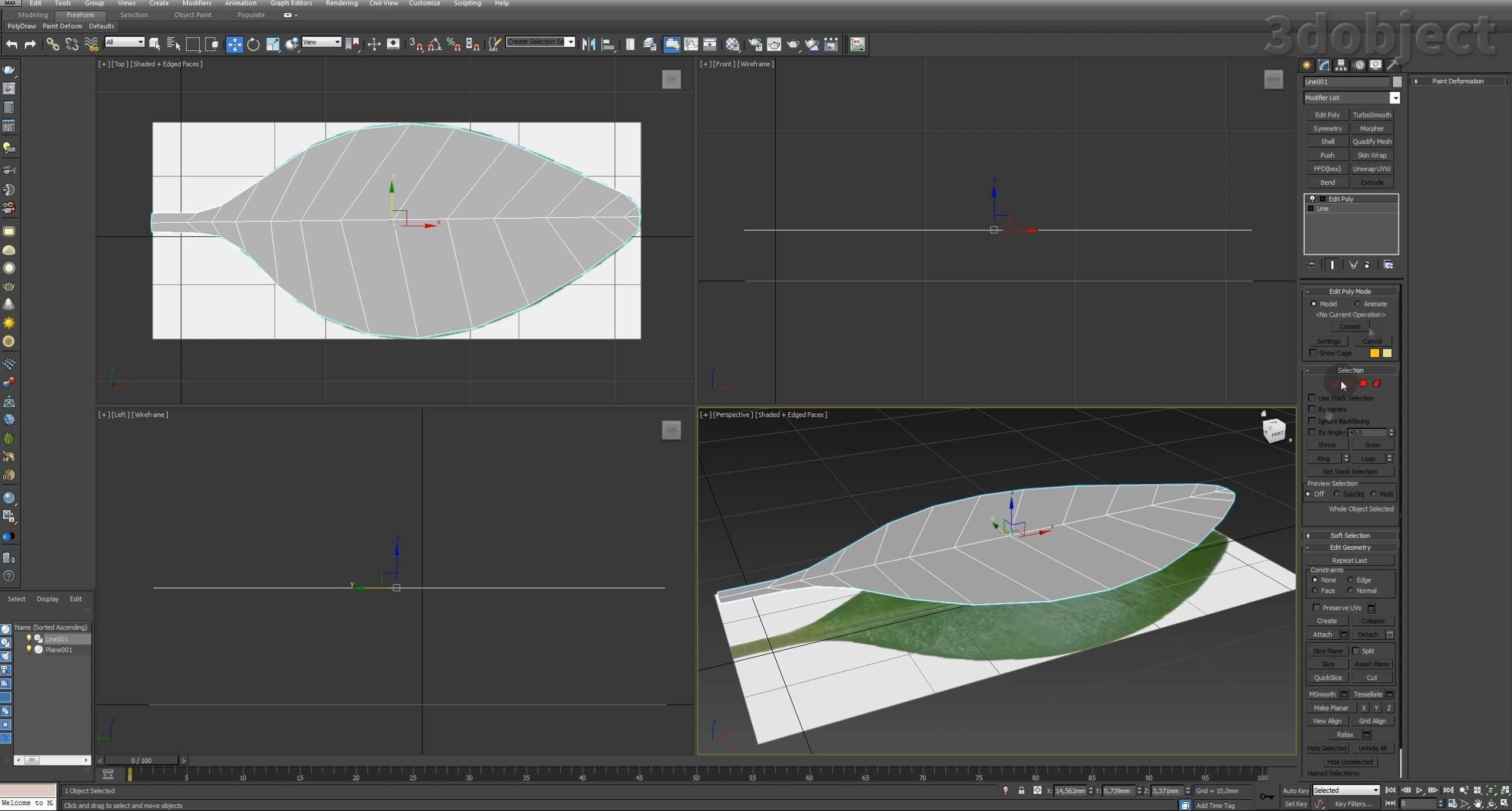 Моделирование Самшит плагином MultiScatter в 3d max. Текстурирование в photoshop. VRay2SidedMtl_2